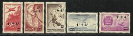MONACO , Lot De 5 Timbres , Poste Aérienne , 1945 , Du N° 8 Au N° 12 , NEUF ** - Poste Aérienne