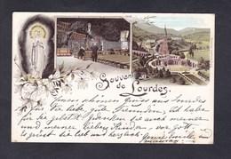 Vente Immediate Souvenir De Lourdes ( Multivues Chromo Lithographie Franz Schemm Nürnberg) - Lourdes