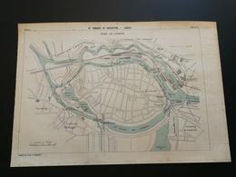 ANNALES PONTS Et CHAUSSEES (Allemagne) - Plan Du IXe Congrès De Navigation - Port De LÜBECK - 1903 (CLA54) - Cartes Marines