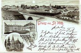 SANKT-VITH : Gruss Aus / Carte Affranchie Et Oblitérée En Allemagne En 1900 (voir Scans) - Saint-Vith - Sankt Vith