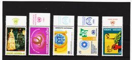 SRO285 UNO WIEN 1981 MICHL 19/23  MIT TABS (RANDZIERFELDER) **  POSTFRISCH - Centre International De Vienne