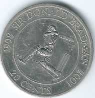 Australia - Elizabeth II - 20 Cents - 2001 - Sir Donald Bradman - KM589 - Decimal Coinage (1966-...)