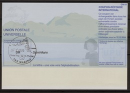 SAN MARINO ST. MARIN Pe31 20050630 AB Int. Reply Coupon Reponse Antwortschein IAS IRC O 26.07.2005 ( Only 250 Issued ! ) - Ganzsachen