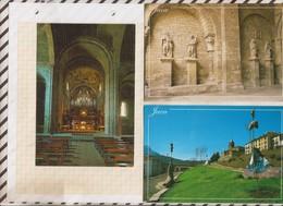9AL960 JACA Lot De 3 Cartes CATHEDRALE PARC  2 SCANS - Huesca