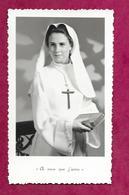 IMAGE PIEUSE...Communion De Marie Claire DAUPHY, Eglise Saint Germain à FLERS (61), En 1962...2 Scans - Devotieprenten