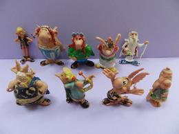 Asterix LOT DE 9 FIGUURINES HUILOR - Asterix & Obelix