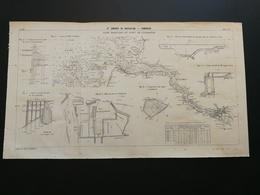 ANNALES PONTS Et CHAUSSEES (Allemagne) - Plan De IXe Congrès De Navigation - Port De Cuxhaven Hambourg - 1903 (CLA57) - Cartes Marines