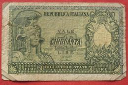 50 Lire 1951 (WPM 91a) - 50 Lire