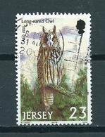 2001 Jersey Eule,owl,birds Of Prey Used/gebruikt/oblitere - Jersey