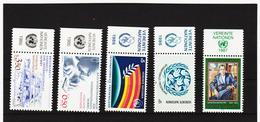 SRO294 UNO WIEN 1986/87 MICHL 60/63 + 68  MIT TABS (RANDZIERFELDER) **  POSTFRISCH - Centre International De Vienne