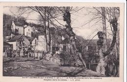 Carte 1940 SAINT GERMAIN SUR VIENNE / PONT DE PIERRE VERS LES MAISONS ETAGEES DANS LE COTEAU - France