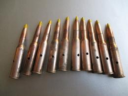 Lot  10 Cartouches Mosin Nagant 1941 Neutralisées - Decorative Weapons