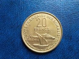COTE FRANÇAISE DES SOMALIS   20 Francs   1965   -- SUP -- - Colonie