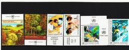 SRO297 UNO WIEN 1988 MICHL 81/86 MIT TABS (RANDZIERFELDER) **  POSTFRISCH - Centre International De Vienne