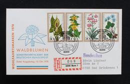 """FDC Bund, BRD, Mi.-Nr. 982-985, Ersttagsbrief """"Wohlfahrtsmarken 1978 - Waldblumen"""" - FDC: Brieven"""
