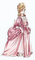 """MARQUE PAGES Détouré """" ÉLISABETH, Princesse A Versailles """" ÉDITIONS ALBIN MICHEL JEUNESSE - Marque-Pages"""