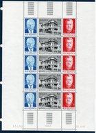 MON 1987  Cinquantenaire De L'OETP   Feuille Complète De 5 Ex.du  Triptyque N° YT 1564A (1562+1563+1564)  ** MNH - Neufs