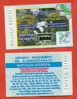 Kazakhstan 2006. City Karaganda. November - A Monthly Bus Pass For Schoolchildren. Plastic. - Season Ticket