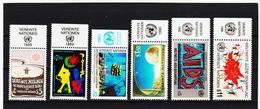 SRO299 UNO WIEN 1989/90 MICHL 94/95 + 98/01 MIT TABS (RANDZIERFELDER) **  POSTFRISCH - Centre International De Vienne
