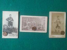 HUNTING - JACHT - CHASSE - CACCIA -LOWIECTWO 3 Antiche Foto Di Cacciatori - Cartoline