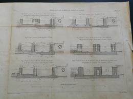 ANNALES PONTS Et CHAUSSEES (Dep 92 ) - Plan D'écluses De Suresnes De La Seine - Gravé Par Macquet - 1889 (CLA63) - Cartes Marines