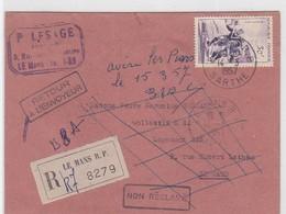 REC. LE MANS RP / 14.3.1957 - Marcophilie (Lettres)
