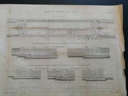 ANNALES PONTS Et CHAUSSEES (Dep 92 ) - Plan D'écluses De Suresnes De La Seine - Gravé Par Macquet - 1889 (CLA64) - Cartes Marines