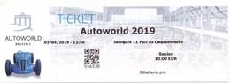 Belgien Brüssel Eintrittskarte 2019 Autoworld - Eintrittskarten