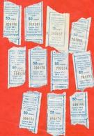 Kazakhstan 2012-15-18. City Karaganda. Lot Of 11 Tickets. - Bus