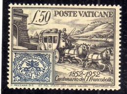 VATICANO VATIKAN VATICAN 1952 CENTENARIO DEI PRIMI FRANCOBOLLI NUOVO MNH - Vatican