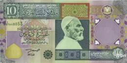Libya 10 Dinars (P66) 2002 Sign 7 -UNC- - Libië