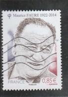FRANCE 2017 MAURICE FAURE  OBLITERE - YT 5134 - France