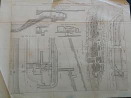 ANNALES PONTS Et CHAUSSEES (Dep 75 ) - Plan De Siphons Des îles à Paris - Gravé Par Macquet - 1891 (CLA67) - Cartes Marines