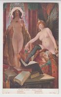 CE 062 / CP Salons De PARIS Tableau Peintre André  LUPIAC  ETUDE DE NU / TENTATION / Femme Dénudée , Seins Nus - Tableaux