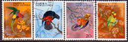 PAPUA NEW GUINEA 1967 SG #121-24 Compl.set Used Christmas. Parrots - Papua Nuova Guinea