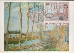 COL-L70 - CFA N° 426 Canal Du Loing De Sisley Sur Carte Maximum - Lettres & Documents