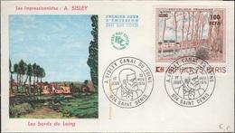 COL-L71 - CFA N° 426 Canal Du Loing De Sisley FDC - Isola Di Rèunion (1852-1975)
