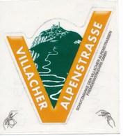 Österreich Villach Villacher Alpenstrasse Autovignette (= Eintrittskarte) - Eintrittskarten