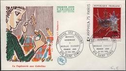 COL-L21 - CFA N° 427 Tapissrie Aux Gobelins Sur FDC - Isola Di Rèunion (1852-1975)