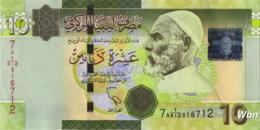 Libya 10 Dinars (P78) 2011 -UNC- - Libië