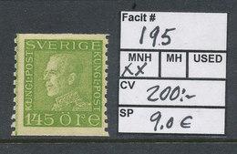 Sweden 1925 Facit # 195, King Gustaf V, Left Profile. MNH (**) - Neufs