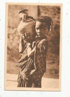 Cp, ALGERIE ,BISKRA ,porteuse D'eau ,enfant ,vierge, Ed. Maure - Biskra
