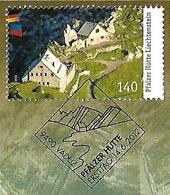 2012  Liechtenstein   Mi. 1628 FD-used Briefstück Pfälzer Hütte - Usados