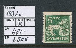 Sweden 1925 Facit # 143ac. Standing Lion. MH (*) - Suecia
