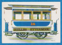 CP - Train - TRAM - S.T.I.B. - Remorque - 1875 - Tramway Des Faubourgs - Ixelles - Etterbeek - Tramways