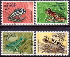PAPUA NEW GUINEA 1968 SG #129-32 Compl.set Used Frogs - Papua Nuova Guinea