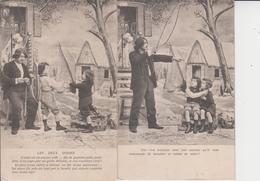 FANTAISIES  -  LES DEUX GOSSES Et Le BOHEMIEN  -  SERIE DE 6 CARTES  - - Cartes Postales