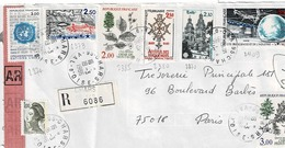 TP Entre  N° 2373 Et 2409 Sur Enveloppe En Recommandé De Chars - 1961-....