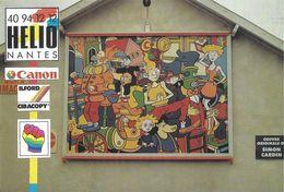 MUR PEINT STREET ART  LE MUR A IMAGES HELIO-NANTES 44 LOIRE-ATLANTIQUE  1989 SIMON CARDIN B.D. BANDE DESSINÉE PUBLICITÉ - Arts