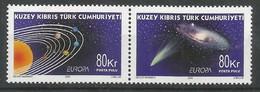 Türkisch-Zypern  2009  Mi.Nr. 698 / 699 , EUROPA CEPT - Astronomie - Postfrisch / MNH / (**) - 2009